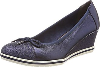 22461, Zapatos de Tacón para Mujer, Azul (Navy Comb), 41 EU Tamaris