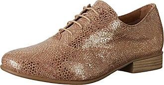 Tamaris 23209, Zapatos de Cordones Oxford para Mujer, Marrón (Nut/Bronce 393), 38 EU