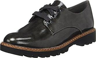 Hotter Tone GTX, Zapatos de Cordones Oxford Para Mujer, Gris (Gunmetal), 37 EU