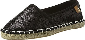 Tamaris Damen 24608 Espadrilles, Schwarz (Black Canvas), 37 EU