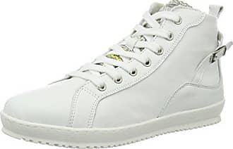 25215, Sneakers Hautes Femme, Blanc (White 100), 39 EUTamaris