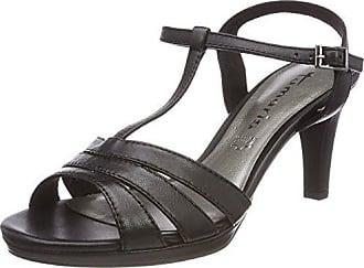 Tamaris 28028 Sandali con Cinturino alla Caviglia Donna Nero Black 41