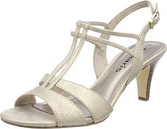 Tamaris 28304 Sandali con Cinturino alla Caviglia Donna Oro Light