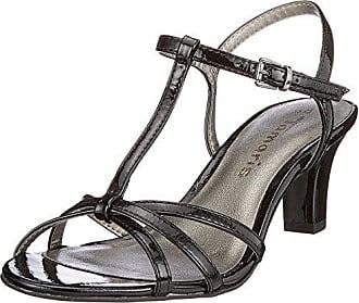 Tamaris 28329, Sandali con Chiusura a T Donna, Nero (Black Patent), 36 EU