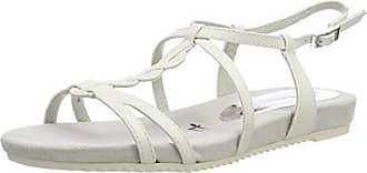 Tamaris 28602, Sandalias de Talón Abierto para Mujer, Blanco (White Matt), 42 EU