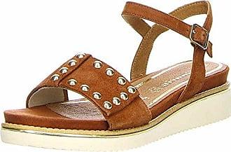 Tamaris Damen Keilsandalette Woms Sandals Größe 38 Braun (Braun)