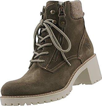 SHOWHOW Damen Plateau Sneakers Winterschuh Kurzschaft Stiefel Schwarz 39 EU