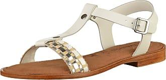 Sandales Avec Sangle D'argent Lametta / Blanc Tamaris