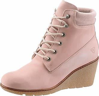 Tamaris »Leder« Keilstiefelette, rosa, EURO-Größen, rosa