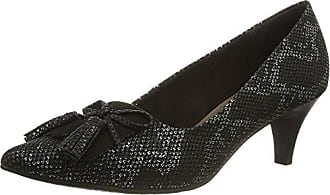 22436, Zapatos de Tacón para Mujer, Gris (Platinum Stru. 949), 39 EU Tamaris