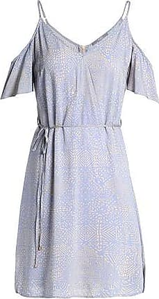 Tart Collections Woman Cold-shoulder Printed Crepe De Chine Mini Dress Lilac Size M Tart Collections