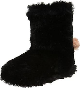Baffin Cush 612700LM - Zapatillas de casa de nailon para mujer, color negro, talla M