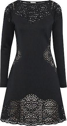 Temperley London Woman Sami Laser-cut Neoprene Dress Dark Green Size 6 Temperley London