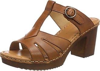 Zapatos marrones de punta abierta formales REFRESH para mujer