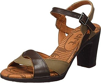 Womens 69-nn02 Ankle Strap Sandals, Mehrfarbig (Braun/Metall) Vista