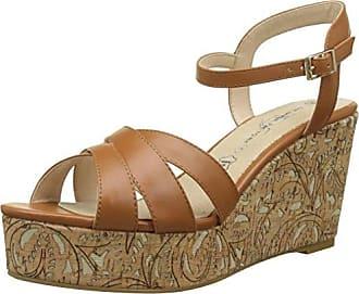 Célestina, Sandalias para Mujer, Dorado (Camel), 37 EU The Divine Factory