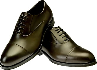 Brown Ginetto Leather Oxfords BELSIRE MILANO