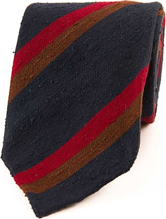 Chocolate Knitted Silk Solid Colour Tie Drake's