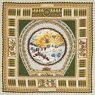 Grey And Gold Teatro San Carlo Silk Pocket Handkerchief Rubinacci