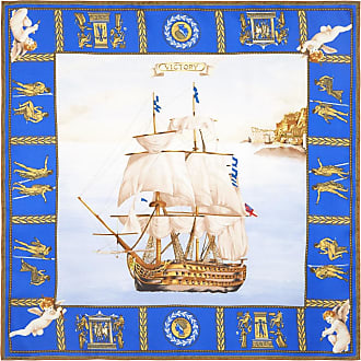 Blue and White Garage Italia Pocket Handkerchief Rubinacci