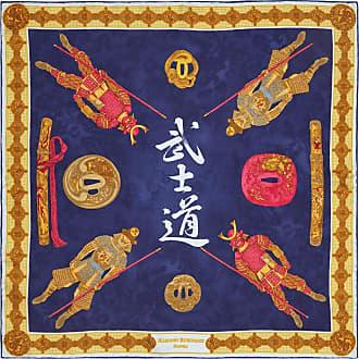 Black And Gold Samurai Silk Pocket Handkerchief Rubinacci