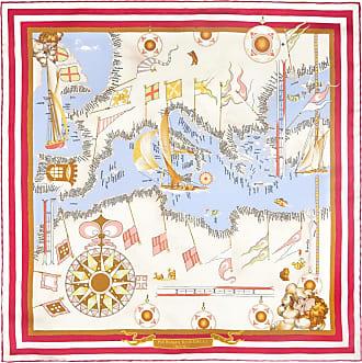 Red Mediterranean Silk Pocket Handkerchief Rubinacci