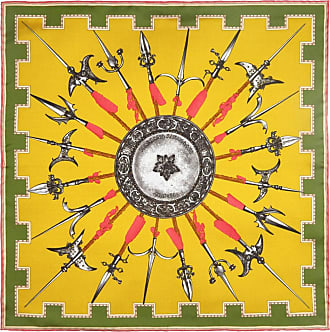 Yellow Army Silk Pocket Handkerchief Rubinacci