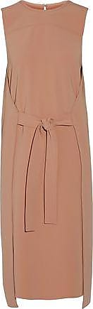 Theory Woman Tie-front Stretch-crepe Dress Antique Rose Size 8 Theory