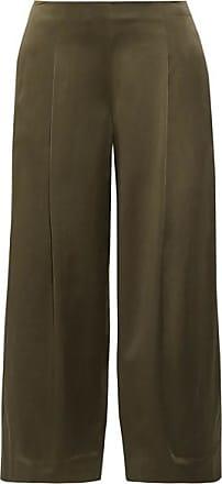 Pantalon Large En Satin De Soie Zavabell - Vert kakiTheory