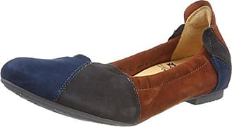 Think Guad_282284, Zapatos de Cordones Brogue para Mujer, Marrón (Rum/Kombi 54), 39 EU