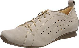 Think Raning_282094, Zapatos de Cordones Brogue para Mujer, Beige (Macchiato 24), 36 EU