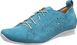 Think Anni_282055, Zapatos de Cordones Brogue para Mujer, Azul (Jeans/Kombi 84), 42.5 EU