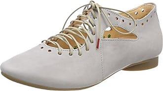 Think Guad_282284, Zapatos de Cordones Brogue para Mujer, Rojo (Rosso 70), 39.5 EU