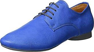 Think Anni_282055, Zapatos de Cordones Brogue para Mujer, Azul (Jeans/Kombi 84), 39.5 EU