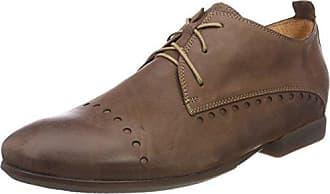 Think Stone_282613, Zapatos de Cordones Brogue para Hombre, Marrón (Lion/Kombi 55), 42 EU