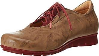 Think Raning_282098, Zapatos de Cordones Brogue para Mujer, Beige (Macchiato/Kombi 25), 43 EU