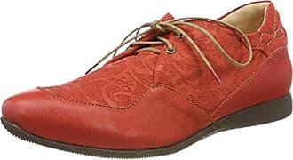 Think Guad_282284, Zapatos de Cordones Brogue para Mujer, Marrón (Rum/Kombi 54), 38.5 EU