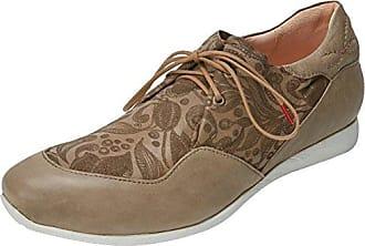 Think Raning_282094, Zapatos de Cordones Brogue para Mujer, Rojo (Chilli/Kombi 76), 40 EU
