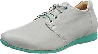 Think Raning_282098, Zapatos de Cordones Brogue para Mujer, Gris (Stahl/Kombi 19), 41 EU
