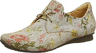 Think Anni_282050, Zapatos de Cordones Brogue para Mujer, Marrón (Rum/Kombi 54), 38.5 EU