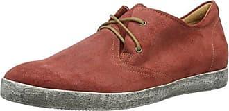 Think Kong_282659, Zapatos de Cordones Brogue para Hombre, Rojo (Rosso/Kombi 72), 45.5 EU
