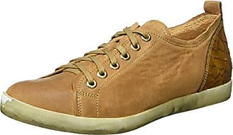 Think Guad_282284, Zapatos de Cordones Brogue para Mujer, Marrón (Rum/Kombi 54), 36 EU