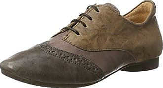 Think Anni_282050, Zapatos de Cordones Brogue para Mujer, Negro (Sz/Kombi 09), 38 EU