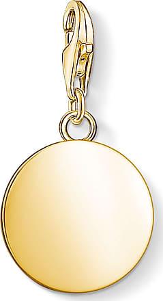 Thomas Sabo personalised Charm pendant disc yellow gold-coloured 1637-413-39 Thomas Sabo