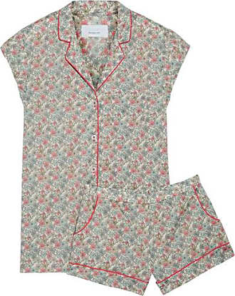 Three J Nyc Woman Floral-print Cotton-poplin Pajama Set Taupe Size M Three J NYC