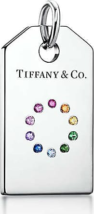 Tiffany Charms colour wheel tag in 18ct white gold with coloured gemstones Tiffany & Co.