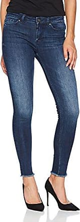 Ania Ripped Hem, Jean Coupe Skinny Femme, Blau (Mid Blue 522), 38 (Taille Fabricant: 28)Tigha