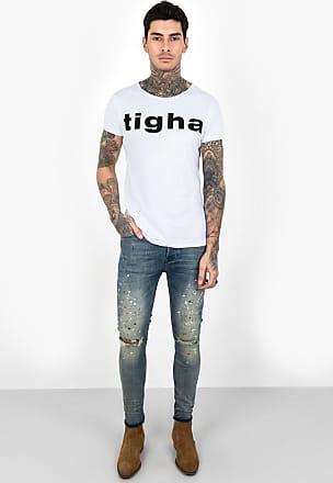 Print t-shirt Tigha Logo Stitching MSN black Tigha