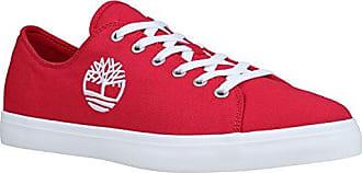 Timberland Newport Bay, Zapatos de Cordones Oxford para Hombre, Rojo (Red Canvas 626), 41.5 EU
