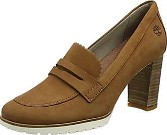 Timberland Dausette Leather Ox, Zapatos de Cordones Oxford para Mujer, Blanco (Rainy Day Naturebuck), 37 EU